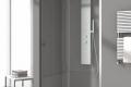 Piatto doccia acrilico box doccia vetro 8mm anticalcare colonna attrezzata