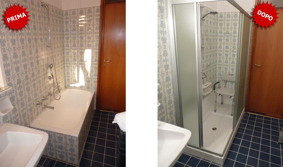 Quanto costa sostituire la vasca da bagno con doccia