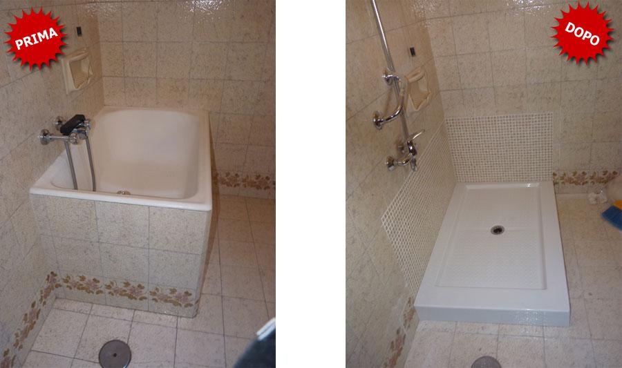 Galleria foto trasformazione da vasca in doccia - Da vasca da bagno a doccia ...