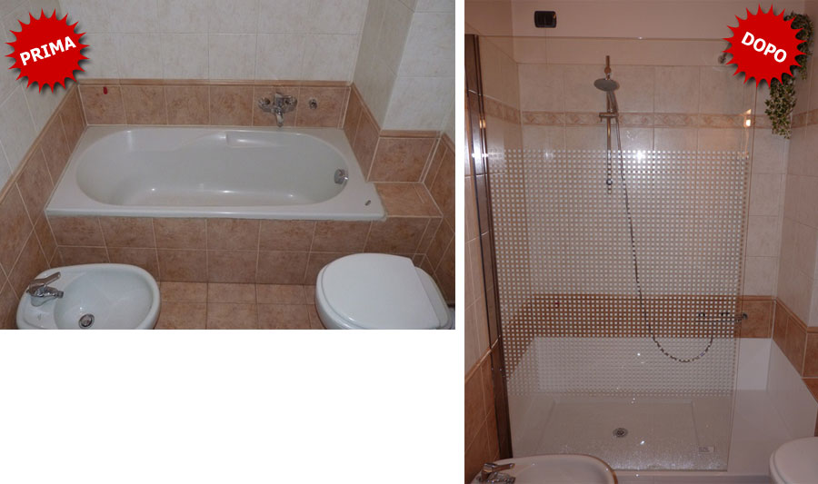 Galleria foto trasformazione da vasca in doccia - Posa piatto doccia prima o dopo piastrelle ...