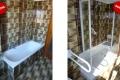 Trasformazione vasca in doccia prima e dopo il lavoro
