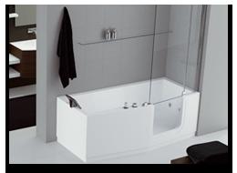 Installazione vasca da bagno con sportello a Bergamo