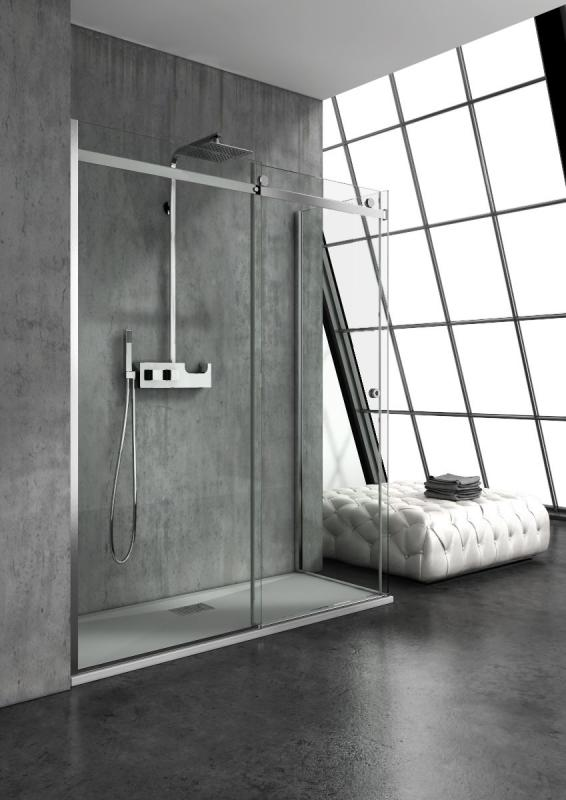 Piatto doccia acrilico box doccia vetro 8mm anticalcare colonna doccia