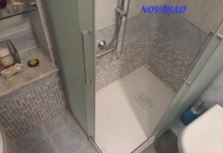 Soluzione doccia più piccola al posto della vasca
