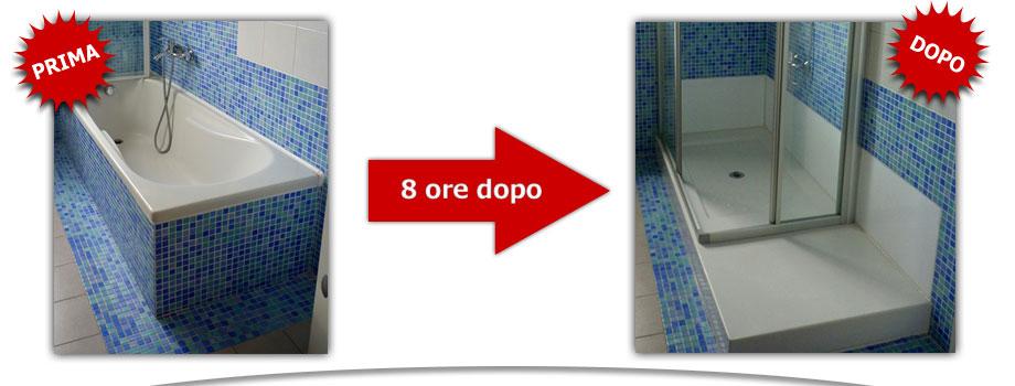 Trasformazione Vasca Da Bagno In Piatto Doccia.Trasformazione Vasca In Doccia Roma In 8 Ore Senza Opere Murarie